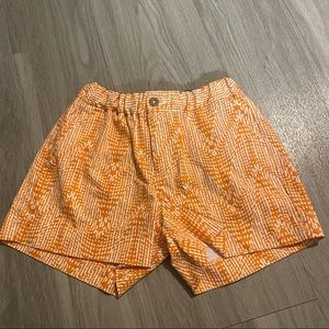 Banana republic orange/white elastic waist shorts